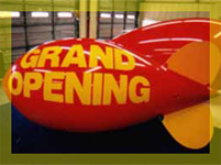 11ft advertising blimp - custom advertising balloons available.